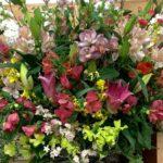 中学卒業式のお花